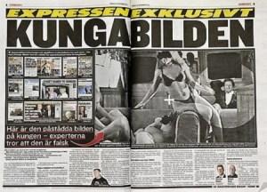 Los medios suecos publicaron una de las fotos asegurando que se trataba de un montaje y así ayudar al Rey, pero Markovic siguió manteniendo que todas era auténticas. (Foto: Captura)