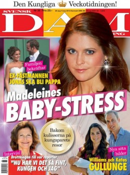 La revista sueca Svensk Damtidning anunciando que Jonas Bergström, el ex de Magdalena, va a ser papá (Foto: portada)
