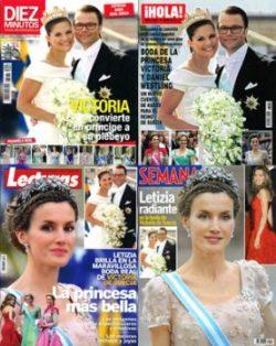 La boda real en las revistas españolas. (Foto: portadas)