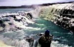Cataratas de Gullfoss donde el agua cae por tres lados. (Foto: archivo)