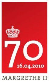 Logo del 70 aniversario de la reina Margarita de Dinamarca. (Foto: Cortesía Casa Real danesa)