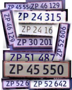 Las matrículas de los coches daneses le llevan las cuentas de los parados españoles a ZP. (Foto ©JM Noticias) - PULSAR PARA AMPLIAR -