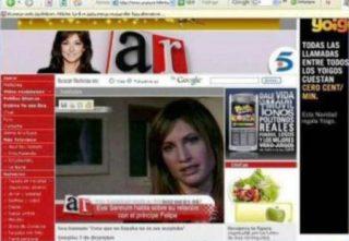 Captura de la página del programa de Ana Rosa en T5.