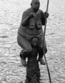 La estatua se llama «Supervivencia Del Más Gordo». (Foto: Sevenmeters.net - JM Noticias)