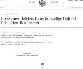 En el tercer comunicado de la Casa Real se describe la intervención quirúrgica practicada al príncipe Henrik. (Foto: Captura de pantalla - JM Noticias)