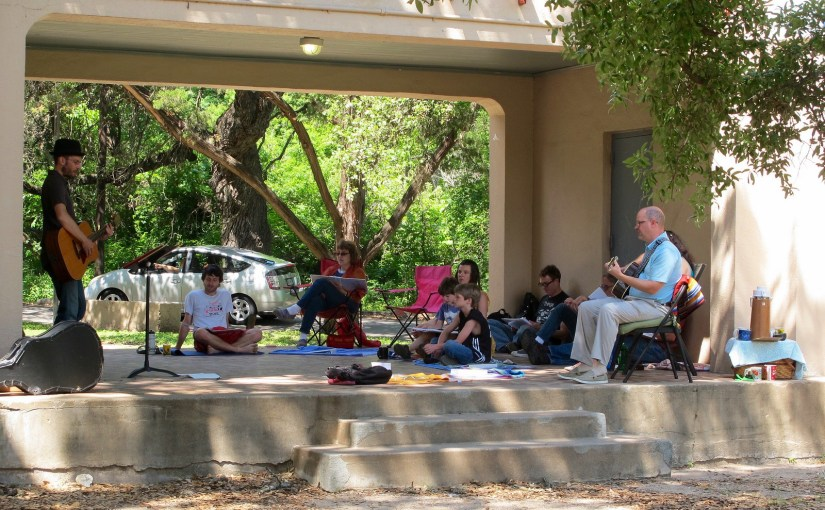 May 2015 Singalong at Little Stacy Park with Mo Pair
