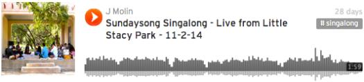 Sundaysong Singalong 11-2-14, Soundcloud player