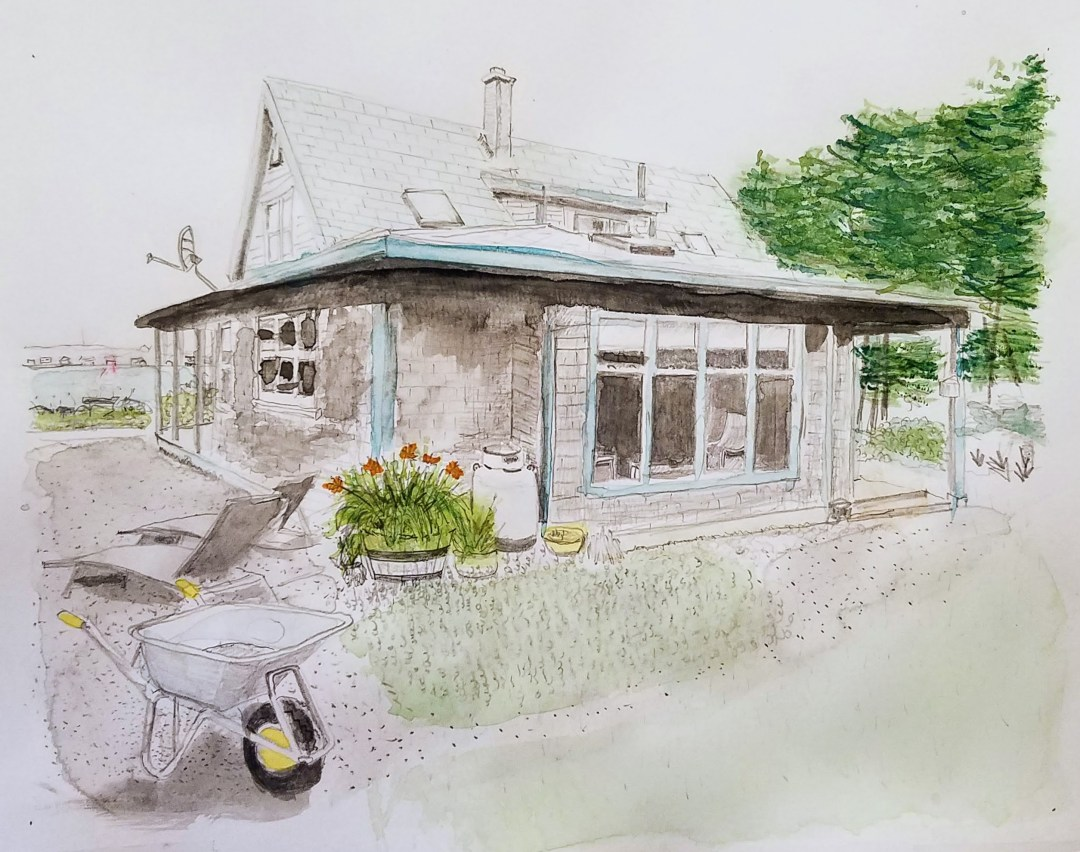 Brier Island View Cottage watercolor