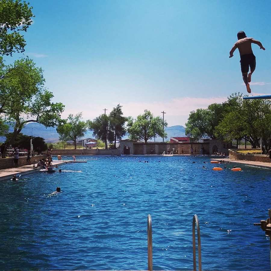 High Diver at Balmorhea Pool