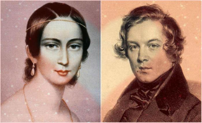 Clara et Robert Schumann