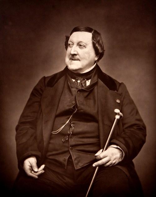 20. Gioachino Rossini, photo d'Étienne Carjat, 1865
