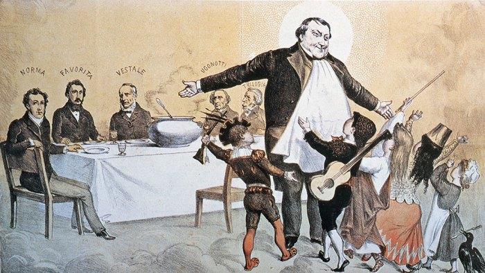 37. Rossini, caricature. Ses héros, ses enfants