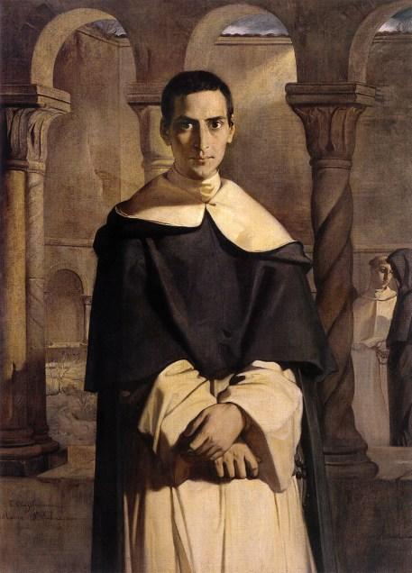 35. Henri-Dominique Lacordaire au couvent de Sainte-Sabine à Rome par Théodore Chassériau en 1840