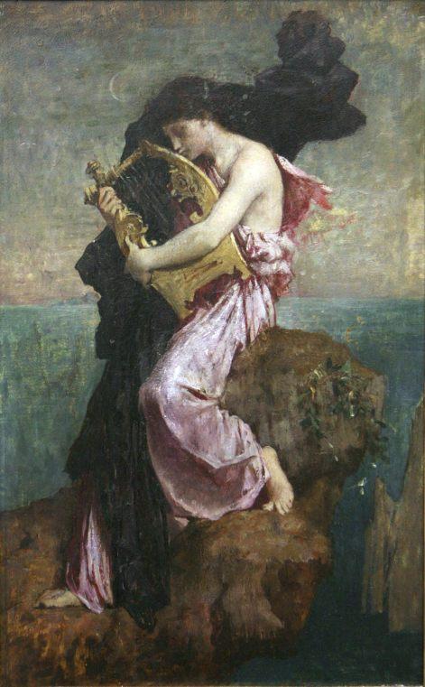 54. Jules Elie Delaunay (1828-1891), Sapho embrassant sa lyre