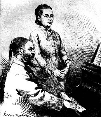 63. Gounod et Georgina Weldon