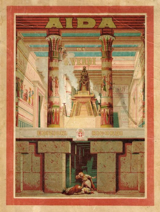 03022019 Verdi Aida, page de garde de la partition Ricordi bis