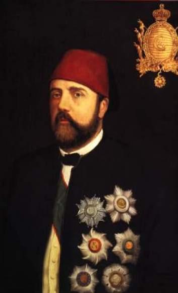 27. Portrait peint d'Ismaïl Pacha à l'époque de Aida