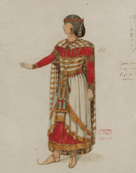 41. Costume d'Aida (1872) par Mariette