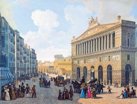 18. Le Théâtre San Carlo de Naples en 1830