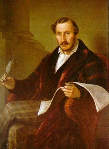 34. Portrait de Donizetti par Giuseppe Rillosi (1811-1880)