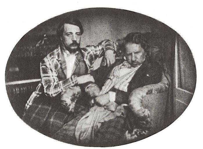 52. Donizetti à droite avec son neveu Andrea, Daguérrotype de 1847