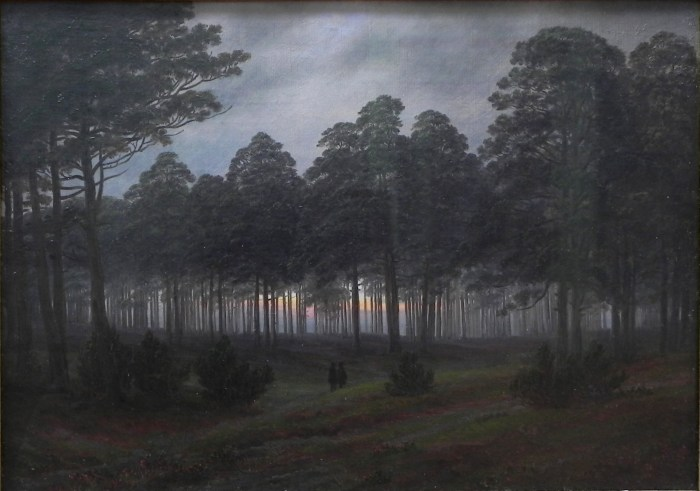 01. Caspar David Friedrich, Le Soir, 1821.