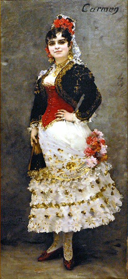05. Célestine Galli-Marié Carmen 1875 création par Henri Lucien Doucet