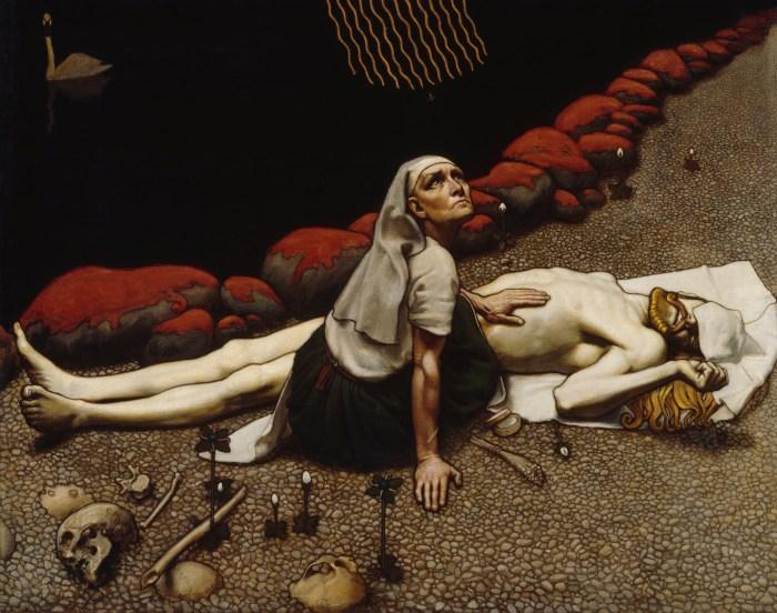 22c. La mère de Lemminkäinen (1897) de Akseli Gallen-Kallela, 1897.