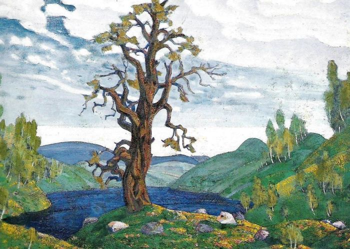 19. Nicholas Roerich, Proposition de décor pour le Sacre, 1913.