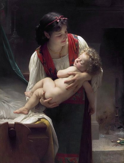 21a. William Adolphe Bouguereau, Berceuse, (Le Coucher), 1873
