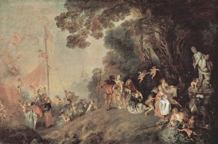 25b. Antoine Watteau, Embarquement pour Cythère, 1718 Frederic II