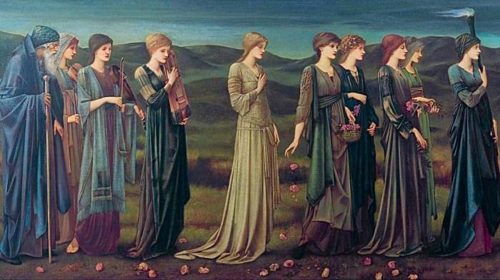 29b. Edward Burne-Jones, Le Cortège nuptial de Psyché, 1895.