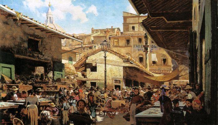 36. Telemaco Signorini, Mercato Vecchio a Firenze 1882-83