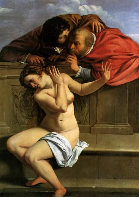 42g. Artemisia Gentileschi, Suzanne et les vieillards, 1610.