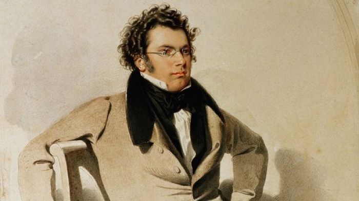 55c. Franz Schubert (1797-1828), aquarelle de Wilhelm August Rieder. 1825 (detail)