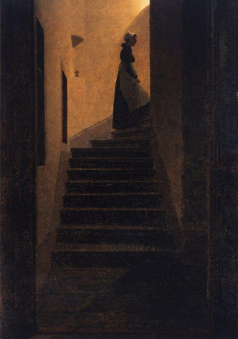 57d. Caspar David Friedrich (1774-1840), Femme dans l'escalier