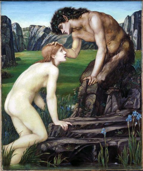 59b. Pan et Psyché (1874) par Edward Burne-Jones (1833-1898)