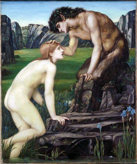 59b. Pan et Psyché (1874) par Edward Burne-Jones (1833-1898)