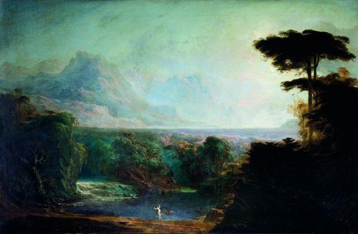 59g. John Martin, Alphée et Aréthuse, 1832.