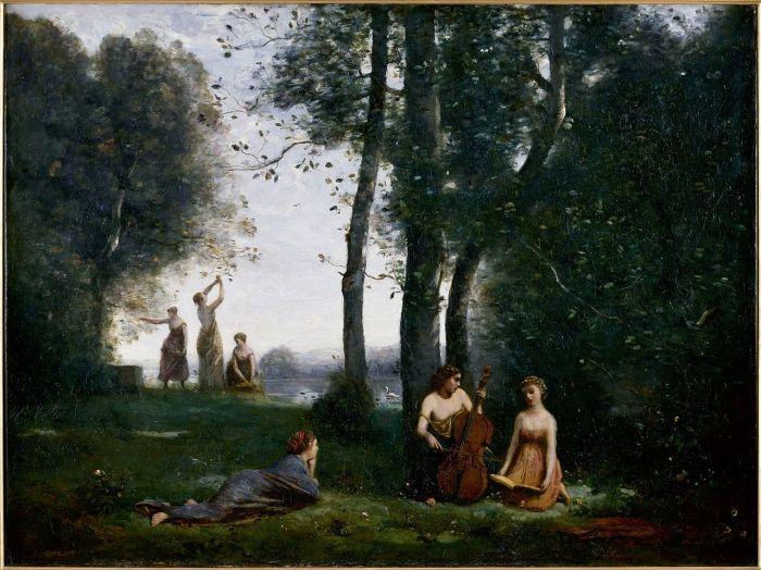 62. Jean-Baptiste-Camille Corot - Le Concert champêtre, 1857