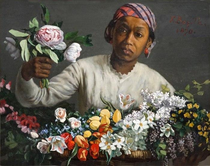 62a. Frédéric Bazille (1841-1870), La Jeune femme aux pivoines, 1870