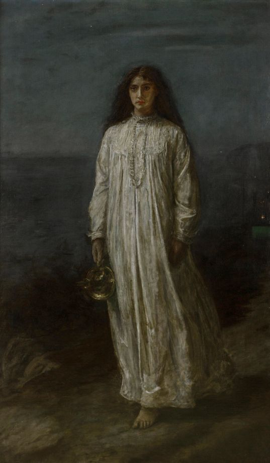 67a. John Everett Millais (1829-1896), La Somnambule (1875)