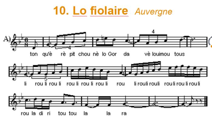 70c. Lo fiolaire (Auvergne)