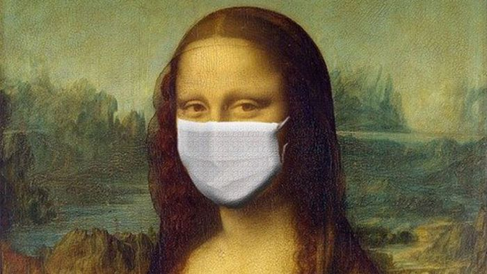 74c. La Joconde avec un masque