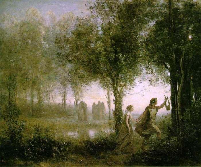 79a. Jean-Baptiste-Camille Corot (1796-1875) - Orphée ramenant Eurydice des Enfers, 1861