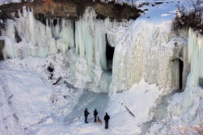 81c. Chutes Minnehaha gelées en hiver