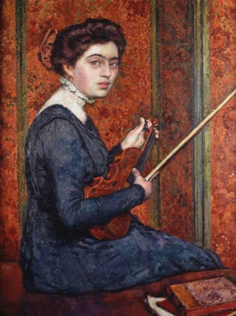 86. Theo van Rysselberghe (Femme au Violon, portrait de Renée Druet au Violon