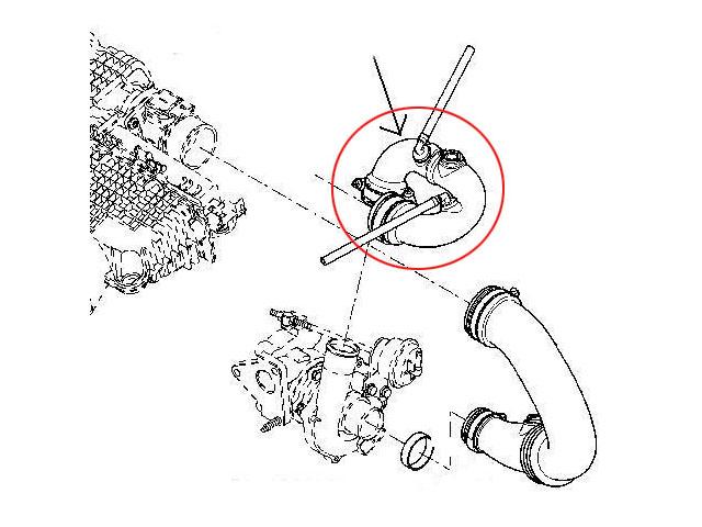 Turbo Intercooler Hose Pipe Engines 1,5 DCI RENAULT CLIO