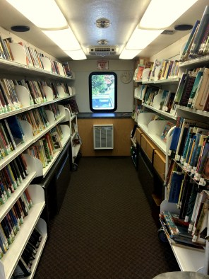 The bus packs in all genres for a variety of reading interests.