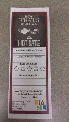 Rate Your Date Sheet